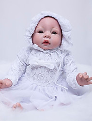 cheap -OtardDolls Reborn Doll Girl Doll Baby Girl 22 inch Silicone - Newborn lifelike Eco-friendly Gift Hand Made Child Safe Kid's Girls' Toy Gift / Hand Applied Eyelashes / Non Toxic