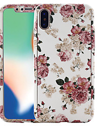 cheap -Case For Apple iPhone X / iPhone 8 Plus / iPhone 8 Pattern Full Body Cases Flower Hard PC