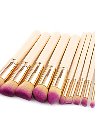 cheap -10-pack-makeup-brushes-professional-make-up-nylon-fiber-professional-comfy-wooden-bamboo