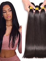 abordables -Lot de 3 Cheveux Péruviens Droit Cheveux Naturel humain Extensions Naturelles 8-28 pouce Couleur naturelle Tissages de cheveux humains Meilleure qualité Grosses soldes Mariage Extensions de cheveux
