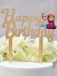cheap -Cake Topper Classic Theme / Wedding Cut Out Wooden / Bamboo Birthday with Sided Hollow Out 1 pcs PVC Box