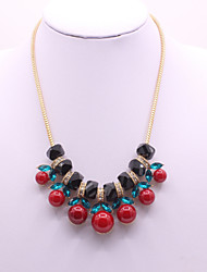cheap -Women's Pendant Necklace Cherry Ladies Classic Fashion Acrylic Rhinestone Alloy Gold 45+5 cm Necklace Jewelry 1pc For Daily