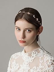 cheap -Imitation Pearl / Rhinestone Headbands with Flower 1 Piece Wedding / Party / Evening Headpiece
