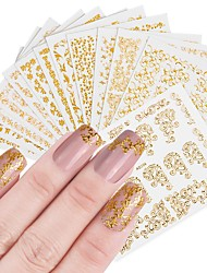 cheap -12 pcs Artificial Nail Tips Nail Jewelry Full Nail Stickers nail art Manicure Pedicure Fashionable Design / Creative Professional / Nail Decals Daily Wear