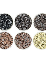 cheap -Extension Aluminium Alloy 7005 Wig Caps / Clips Micro Rings / Loops Best Quality / New Arrival / Hot Sale 1000 pcs Gift / Professioanl Use New / Fashion / Modern Blonde Copper Brown Black