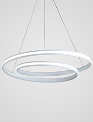 cheap -1-Light 46 cm Adjustable Chandelier Aluminum Circle Painted Finishes Contemporary LED 110-120V 220-240V