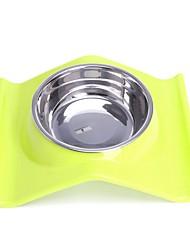 Недорогие -Собаки Кролики Коты Миски и бутылки с водой / Кормушки / Хранение продуктов питания 300 L пластик Нержавеющая сталь Водонепроницаемость Компактность Прочный Продукты питания Нескользящий захват Собака