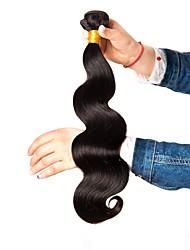 cheap -6 Bundles Brazilian Hair Wavy Body Wave Human Hair Unprocessed Human Hair Headpiece Natural Color Hair Weaves / Hair Bulk Hair Care 8-28 inch Black Natural Color Human Hair Weaves Extender Soft Silky