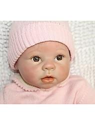 cheap -NPKCOLLECTION NPK DOLL Reborn Doll Baby 24 inch Silicone - Newborn Gift Child Safe Non Toxic Tipped and Sealed Nails Natural Skin Tone Kid's Girls' Toy Gift / Artificial Implantation Brown Eyes