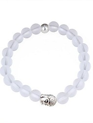 cheap -Women's Crystal Bead Bracelet Ladies Fashion Elegant Alloy Bracelet Jewelry White For Street Going out