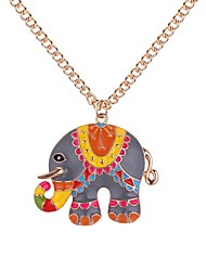 cheap -Women's Pendant Necklace Long Elephant Ladies Cartoon Vintage Fashion Alloy Gold Silver 62+5 cm Necklace Jewelry 1pc For Daily School