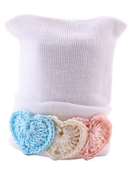 cheap -Infant Unisex Sweet Daily Heart Cotton Hats & Caps White / Pink / Rainbow One-Size / Bandanas