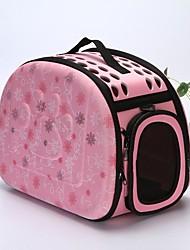 cheap -Dog Rabbits Cat Cages Carrier Bag & Travel Backpack Shoulder Messenger Bag Waterproof Portable Camping & Hiking Pet Plastic Flower / Floral Lolita Fashion Black Pink Beige