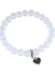 cheap -Women's Crystal Bead Bracelet Heart Ladies Fashion Resin Bracelet Jewelry White For Date Street