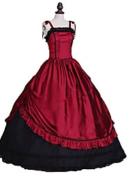 cheap -Rococo Victorian 18th Century Dress Masquerade Women's Costume Red+Black Vintage Cosplay Sleeveless Ball Gown Plus Size Customized
