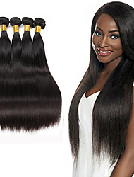 cheap -4 Bundles Hair Weaves Brazilian Hair Straight Human Hair Extensions Human Hair Natural Color Hair Weaves / Hair Bulk / 8A