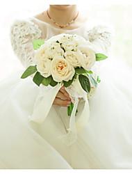 Недорогие -Свадебные цветы Букеты Свадьба / Свадебные прием Satin / Ткань 11-20 cm