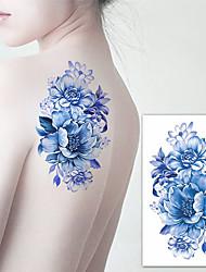 cheap -3 pcs Tattoo Stickers Temporary Tattoos Flower Series Body Arts Brachium / Shoulder