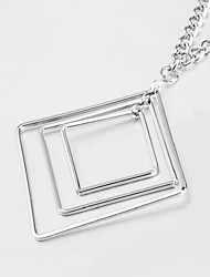 cheap -Women's Pendant Necklace Long Ladies Ethnic Fashion Alloy Silver 82 cm Necklace Jewelry 1pc For Daily School