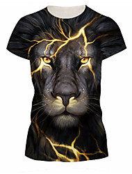 cheap -Men's Daily Basic Slim T-shirt - Geometric Round Neck Black / Short Sleeve