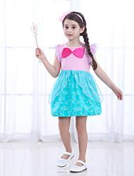 cheap -The Little Mermaid Princess Dress Flower Girl Dress Girls' Movie Cosplay A-Line Slip Pink Dress Children's Day Masquerade Satin / Tulle