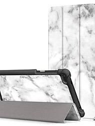 Недорогие -Кейс для Назначение Lenovo Lenovo Tab 7 Essential / Lenovo Tab 7 со стендом / Флип Чехол Масляный рисунок Твердый Кожа PU