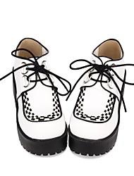 cheap -Women's Lolita Shoes Punk Lolita Elegant Creepers Headwear Color Block 8 cm White PU(Polyurethane) Halloween Costumes