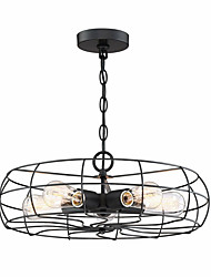 cheap -Vintage Loft Creative Metal Pendant Lights 5-Lights Painted Finish Industrial Fan Chandelier