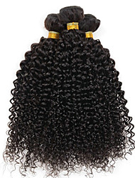 cheap -4 Bundles Brazilian Hair Curly Human Hair Natural Color Hair Weaves / Hair Bulk Extension Human Hair Extensions 8-28 inch Black Human Hair Weaves Silky Party Woven Human Hair Extensions / 8A