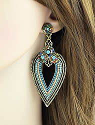 cheap -Women's Tourmaline Drop Earrings Cross Body Drop Ladies Basic Fashion African Indian Earrings Jewelry Gold For Daily Date 1 Pair