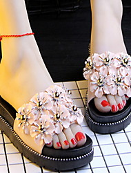 cheap -Women's Slippers Slippers / House Slippers Ordinary / Casual Plastic Beading Shoes