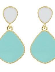 cheap -Women's Drop Earrings Cross Body Drop Ladies Basic Fashion Earrings Jewelry Green / Blue / Pink For Daily Date 1 Pair