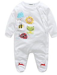 cheap -Baby Girls' Basic Daily Print Long Sleeve Overall & Jumpsuit White / Toddler