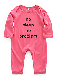 cheap -Baby Girls' Basic Daily Print Printing Long Sleeve Cotton Romper Red / Toddler