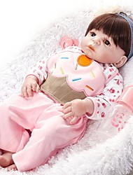 cheap -FeelWind Reborn Doll Girl Doll Baby Girl 22 inch Full Body Silicone - lifelike Hand Made Child Safe Non Toxic Parent-Child Interaction Hand Rooted Mohair Kid's Girls' Toy Gift