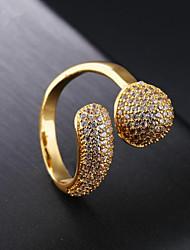cheap -Women Band Ring Cubic Zirconia Cluster Gold 18K Gold Star Ladies Fashion 1pc 7 8 / Women's