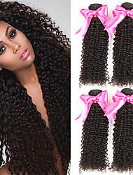 cheap -4 Bundles Indian Hair Curly Human Hair Natural Color Hair Weaves / Hair Bulk Human Hair Extensions 8-28 inch Natural Color Human Hair Weaves Fashionable Design Best Quality Hot Sale Human Hair / 8A