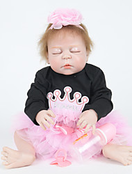 cheap -FeelWind Reborn Doll Girl Doll Baby Girl 22 inch Full Body Silicone - lifelike Hand Made Child Safe Non Toxic Parent-Child Interaction Hand Rooted Mohair Kid's Girls' Toy Gift / Natural Skin Tone