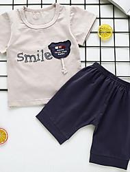 cheap -Baby Boys' Active Sports Print Short Sleeve Regular Cotton Clothing Set Blushing Pink / Toddler