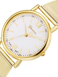 cheap -Couple's Wrist Watch Quartz Stainless Steel Silver / Gold Chronograph Casual Watch Analog Classic Bangle Elegant - Gold Silver One Year Battery Life