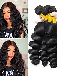 cheap -6 Bundles Peruvian Hair Wavy Human Hair Natural Color Hair Weaves / Hair Bulk Human Hair Extensions 8-28 inch Natural Color Human Hair Weaves Fashionable Design Best Quality New Arrival Human Hair