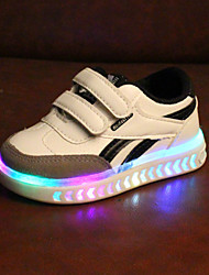 cheap -Boys' / Girls' LED / Comfort / LED Shoes PU Sneakers Toddler(9m-4ys) / Little Kids(4-7ys) Magic Tape / LED Black / White Spring &  Fall / Spring & Summer / Color Block