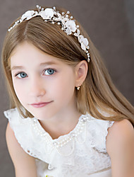 cheap -Alloy Head Chain with Ruffle 1 Piece Wedding / Special Occasion Headpiece