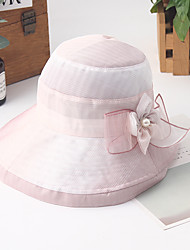 cheap -Women's Basic Holiday Canvas Sun Hat-Color Block Summer Blushing Pink Dark Gray Navy Blue
