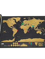 cheap -Erase Black World Map Scratch off World Map Personalized Travel Scratch for Map Room