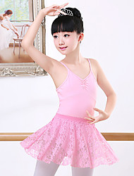 cheap -Ballet Skirts Lace Ruching Girls' Training Performance Sleeveless Natural Cotton