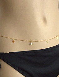 cheap -Waist Chain Statement Ladies Simple Women's Body Jewelry For Holiday Bikini Alloy Gold