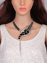 cheap -Women's Cubic Zirconia Choker Necklace Chain Necklace Statement Necklace Mismatched Snake Statement Ladies European Trendy Acrylic Stone Alloy Silver Rainbow Dark Gray 52+9 cm Necklace Jewelry 1pc For