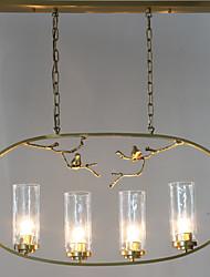cheap -ZHISHU 4-Light 90 cm Mini Style / New Design / Tree Chandelier Metal Glass Island Brass Artistic / Nature Inspired 110-120V / 220-240V