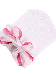 cheap -Infant Unisex Sweet Daily Bowknot Cotton Hats & Caps White / Pink / Rainbow One-Size / Bandanas